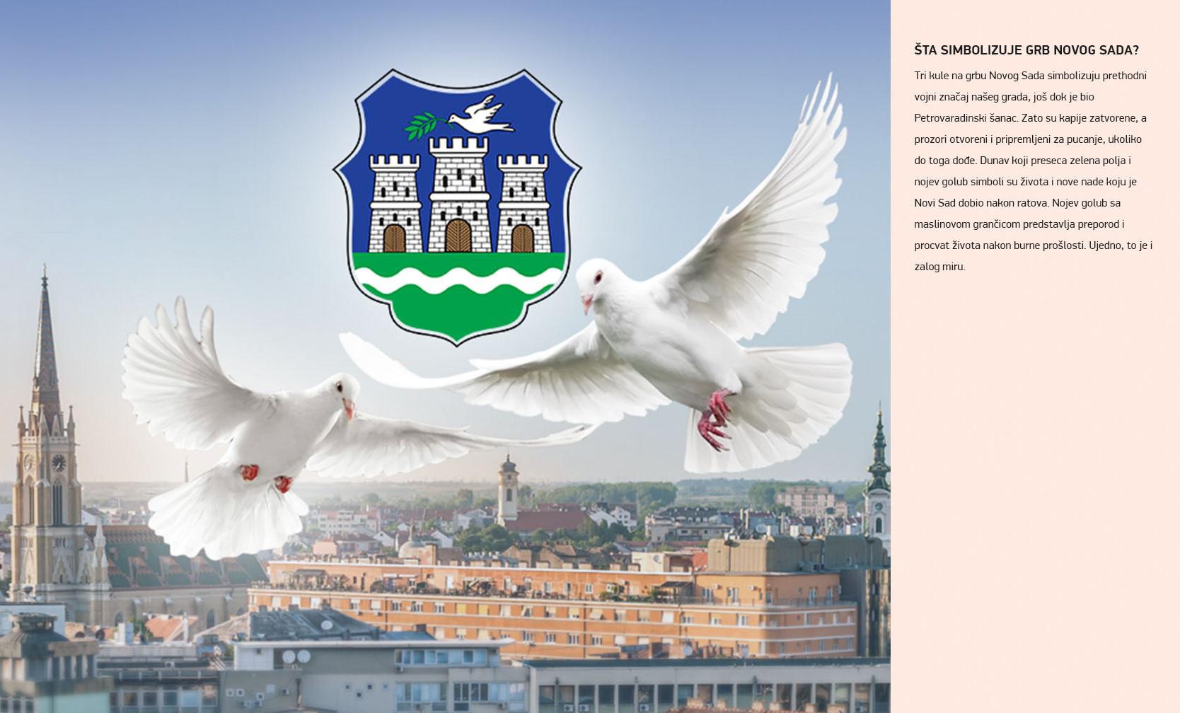 Šta simbolizuje grb Novog Sada